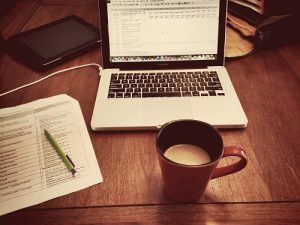 freelancing with coffee