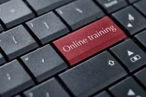Computer keyboard with word Online Training